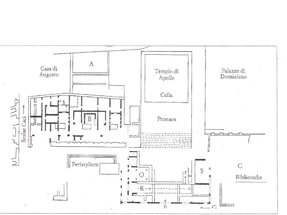 Tempio di Apollo e Casa di Augusto (una rampa [R] collega